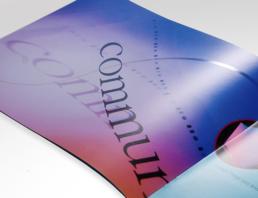 Brochure graphic design for print company.