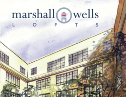 Brand Identity, Logo, sales presentation and brochure for Marshall-Wells Lofts.