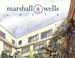 Brand Identity, Logo, sales presentation and brochure for Marshall-Wells Lofts.